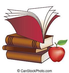 boekjes , appel, leraar