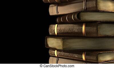 boekjes , oud, bibliotheek, stapel