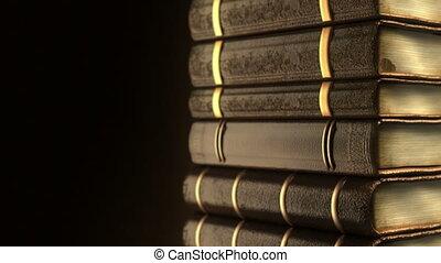 boekjes , oud, zeer, stapel