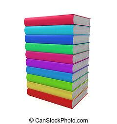 boekjes , stapel, gekleurd