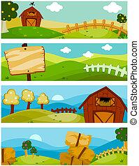 boerderij, banieren