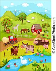 boerderij, kaart