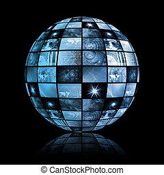 bol, globaal, technologie, wereld, media