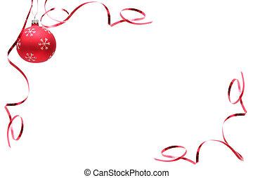 bol, kerstmis, rood