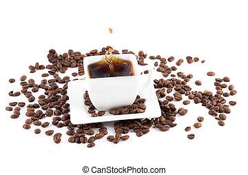 bonen, gespetter, koffie