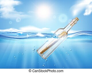 boodschap, fles, samenstelling