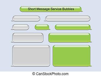 boodschap, kort, bellen, dienst