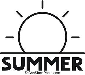 boodschap, zomer, pictogram
