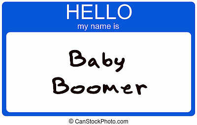 boomer, nametag, baby