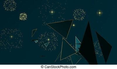 boompje, dennenboom, animatie, jaar, nieuw, kerstmis kaart