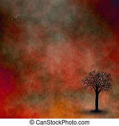boompje, eenzaam