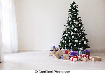 boompje, feestdagen, kadootjes, jaar, nieuw, kerstmis, vrolijke