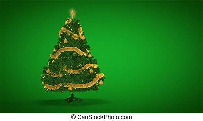 boompje, groene, kerstmis, achtergrond