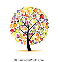 boompje, jouw, fruit, ontwerp, energie