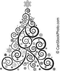 boompje, kerstmis, sierlijk