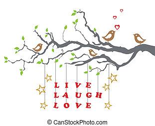 boompje, leven, liefde, lach, tak