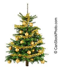boompje, sterke drank, baubles, goud, kerstmis