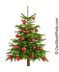 boompje, sterke drank, baubles, rood, kerstmis