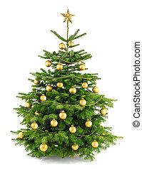 boompje, sterke drank, versieringen, goud, kerstmis
