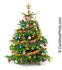 boompje, sterke drank, versieringen, kleurrijke, kerstmis