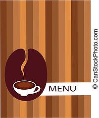 boon, koffiekop, menu