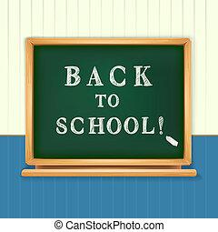 bord, school, back, geschreven