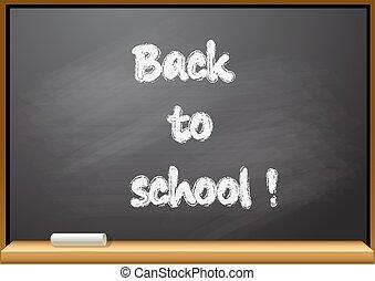 bord, school, back, tekst