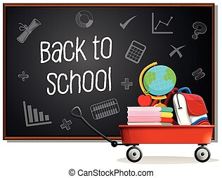 bord, school, back