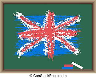 bord, vlag, engeland