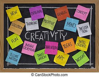 bord, woord, wolk, creativiteit