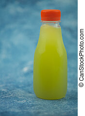 bottle., stok, organisch, plastic, drink., sap