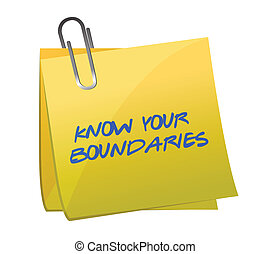boundaries., ontwerp, weten, illustratie, jouw