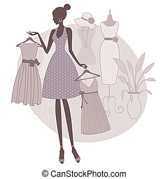 boutique, shoppen