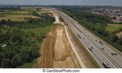 bouwsector, duitser, autobahn, luchtmening, werken