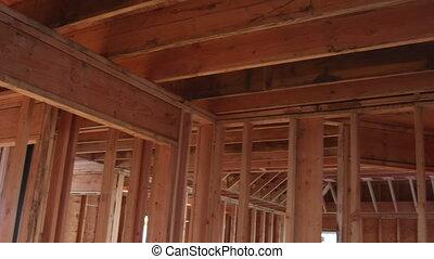 bouwsector, het ontwerpen, interieur, thuis, houten, woongebied, woning