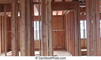 bouwsector, het ontwerpen, onder overzicht, interieur, thuis huis