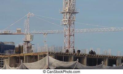 bouwsector, werf, winter