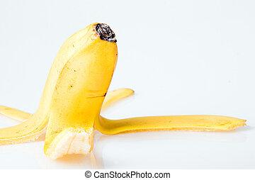 boven., afsluiten, bananenschil
