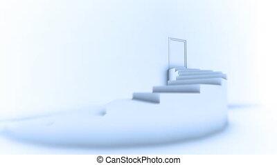 bovenzijde, trap, toonaangevend