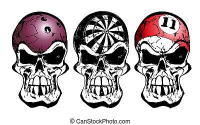 bowling, billiard, schedels, darten