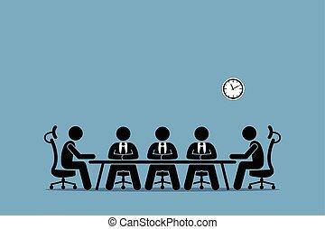 brainstorming, discussie, businessman.