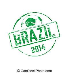 brazilie, 2014, rubber, grunge, postzegel