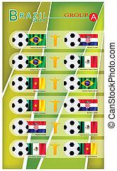 brazilie, 2014, toernooi, groep, voetbal