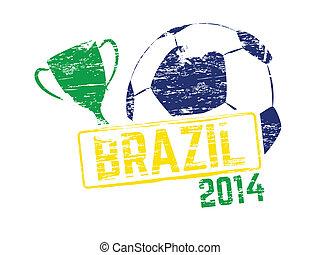 brazilie, 2014, vector, postzegel