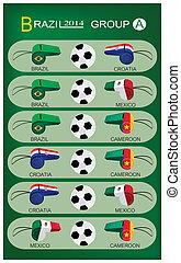 brazilie, 2014, voetbal, toernooi, groep
