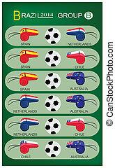 brazilie, b, groep, toernooi, 2014, voetbal
