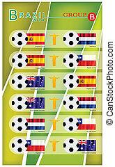 brazilie, b, groep, toernooi, voetbal, 2014