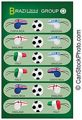 brazilie, groep, d, toernooi, 2014, voetbal