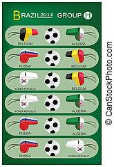 brazilie, groep, h, toernooi, 2014, voetbal