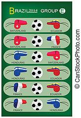 brazilie, groep, toernooi, 2014, voetbal, e